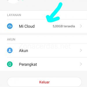 Gambar 3. Klik Mi Cloud