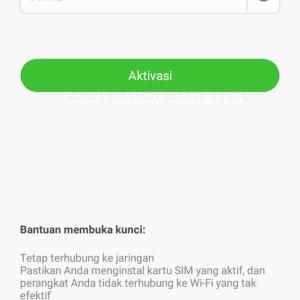 Gambar 12. Masukkan kata sandi akun Mi Cloud untuk membuka smartphone.
